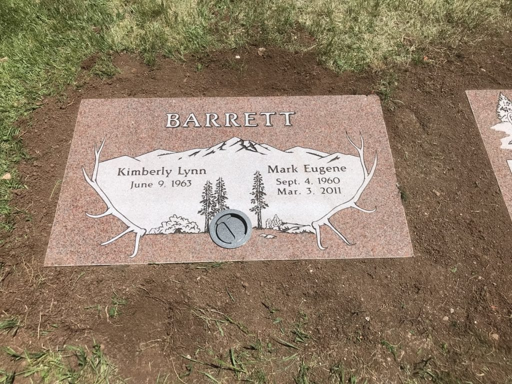 Barrett Flat Gravestone