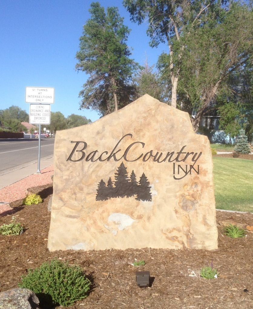 BackCountry Inn Commercial Stone Sign