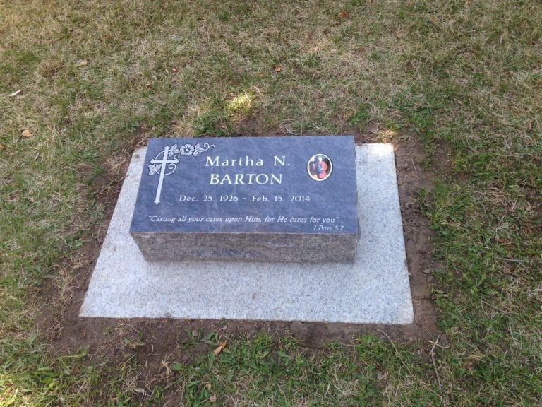 Barton Bevel Grave Marker