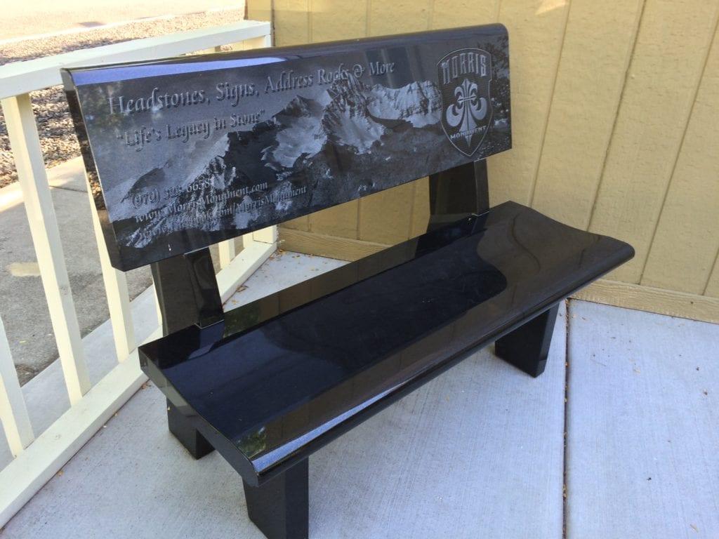 Black Granite Bench