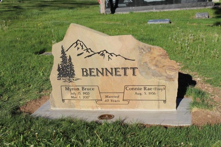 Bennett Natural Stone Upright Memorial