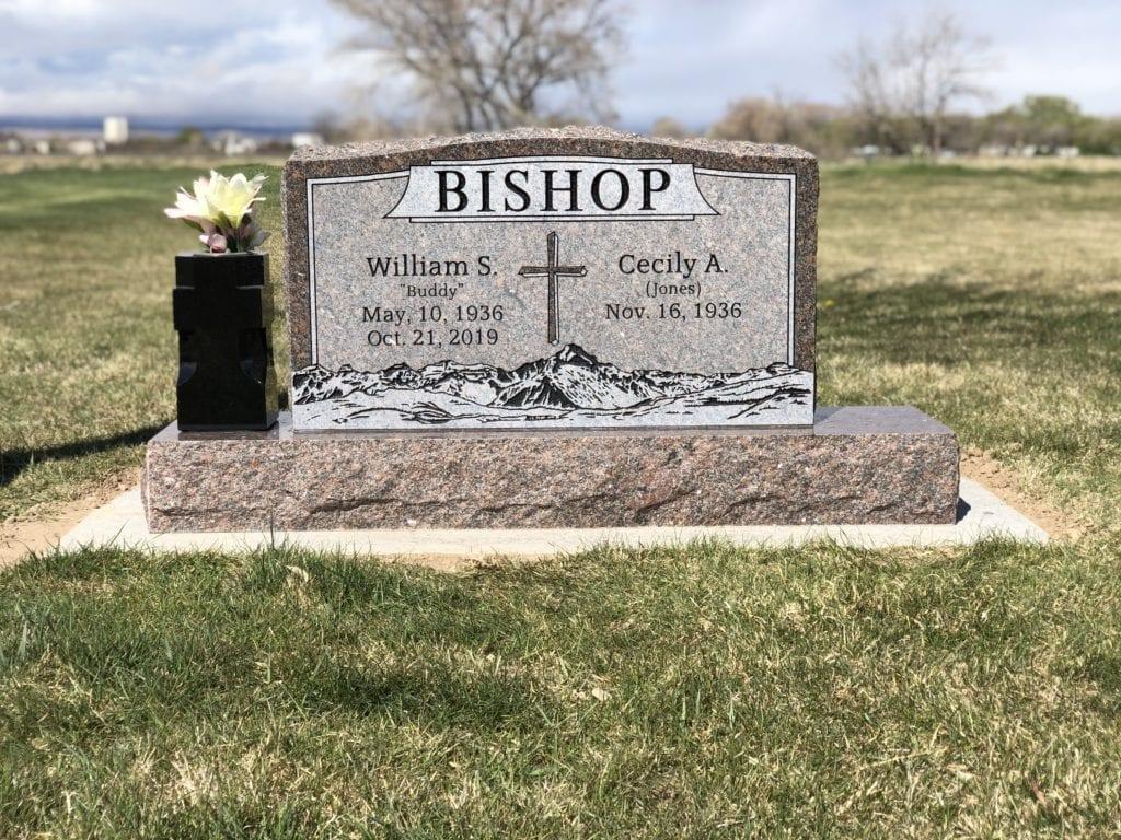Bishop Upright Tablet Monument