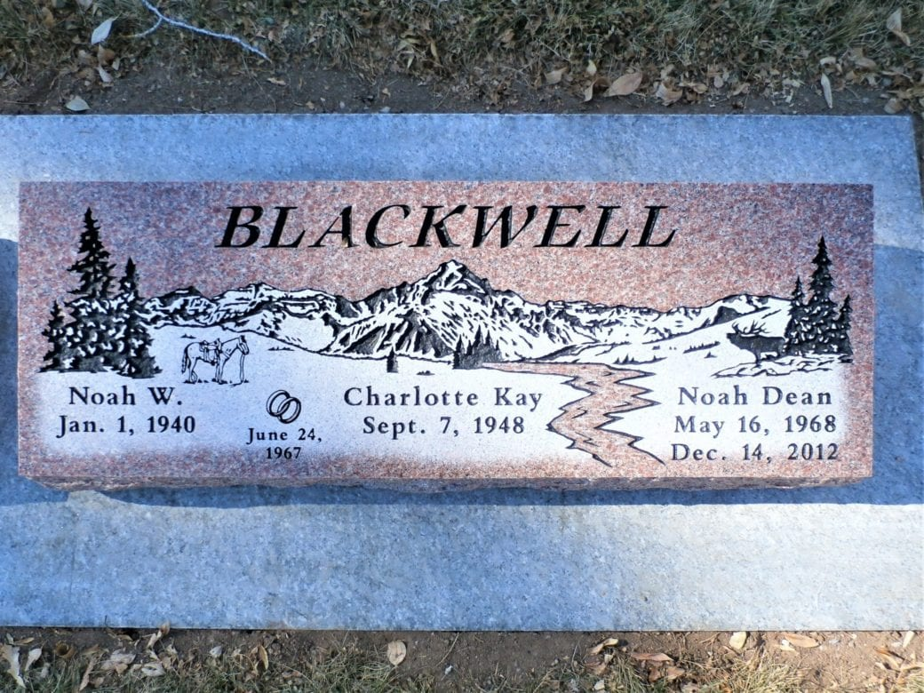 Blackwell Family Bevel Grave Marker