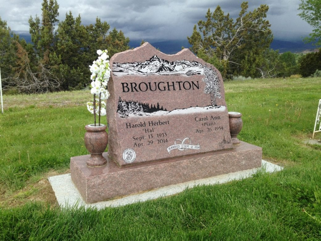 Broughton Mountain Top Upright Monument