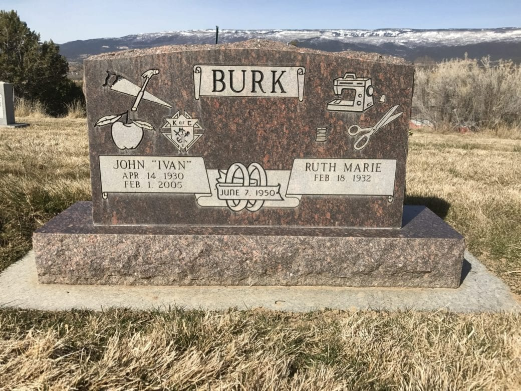 Burk Traditional Tablet Monument