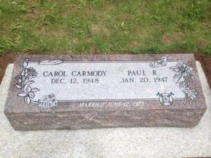Carmody Bevel Grave Marker