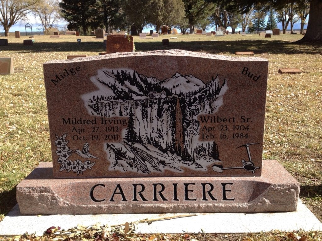 Carriere Upright Tablet Monument