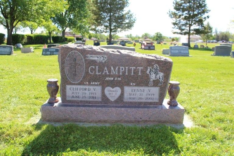 Clampitt Custom Upright Memorial