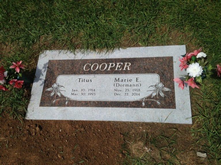 Cooper Flat Gravestone