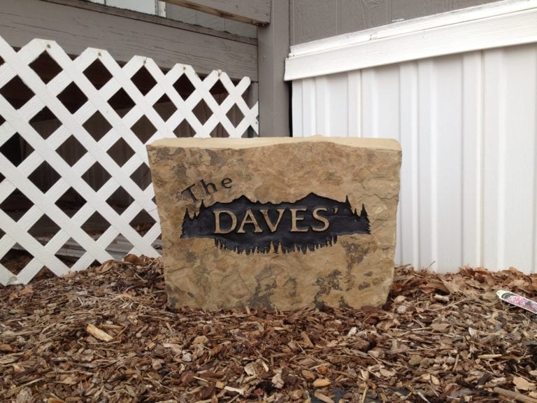 Daves Residence Stone Sign