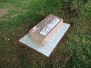 Douglas Bevel Grave Marker