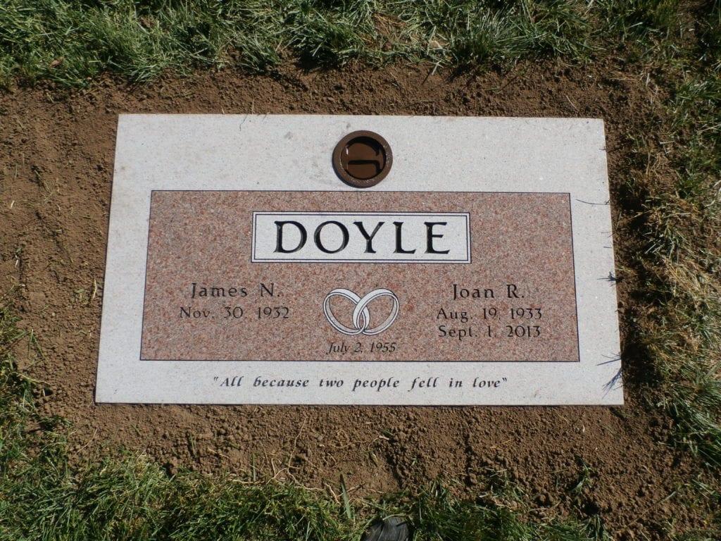 Doyle Flat Gravestone