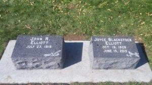 Elliott Bevel Grave Markers