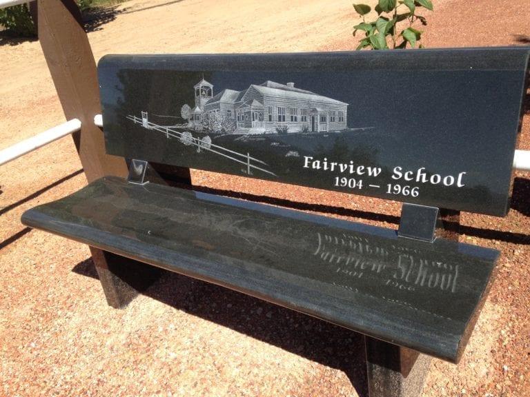 Fairview School Bench Memorial