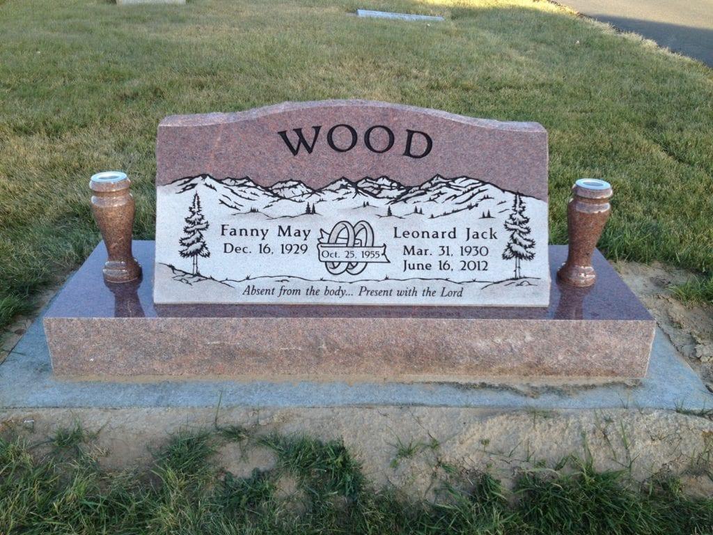 Wood Slant Memorial