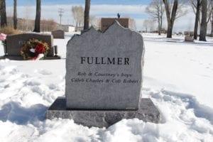Fullmer Slant Memorial - Back