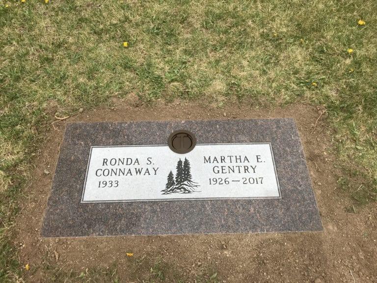 Gentry Flat Gravestone