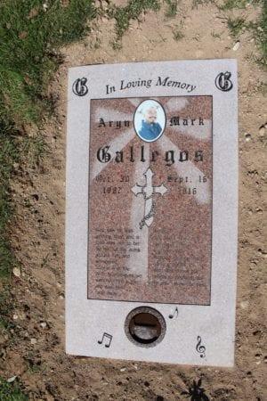 Gallegos Flat Gravestone