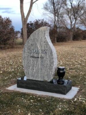 Gomez Upright Tablet Monument - Back