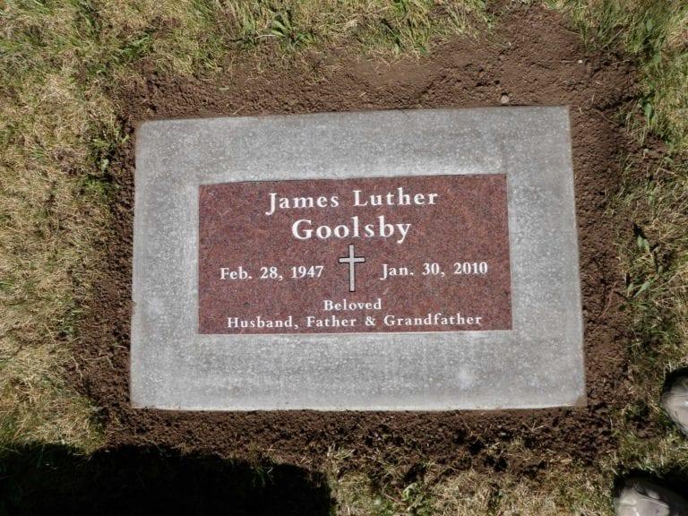 Goolsby Flat Gravestone