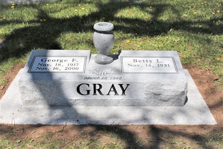 Gray Family Bevel Grave Marker