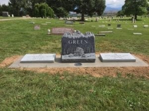Green Family Bevel Grave Marker