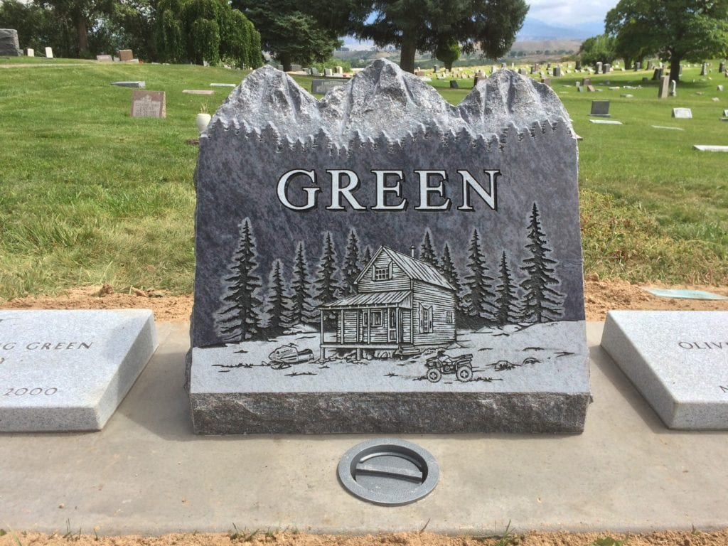 Green Mountain Top Upright Monument