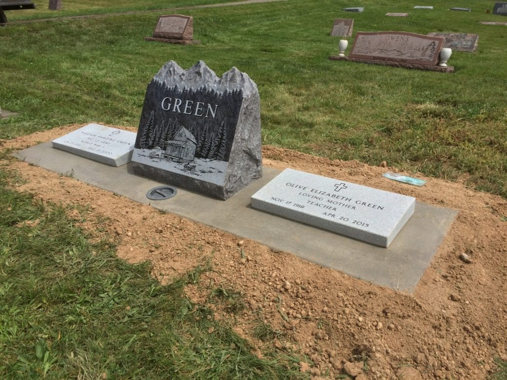 Green Veterans Slant Memorial