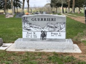 Guerrieri Traditional Upright Tablet Memorial