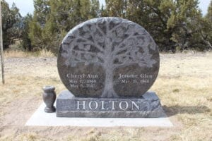 Holton Upright Tablet Monument