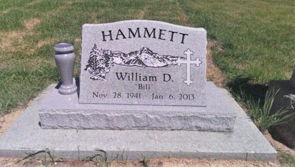 Hammett Single Person Slant Memorial