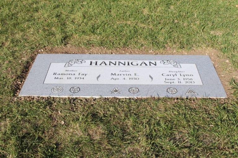 Hannigan Flat Gravestone