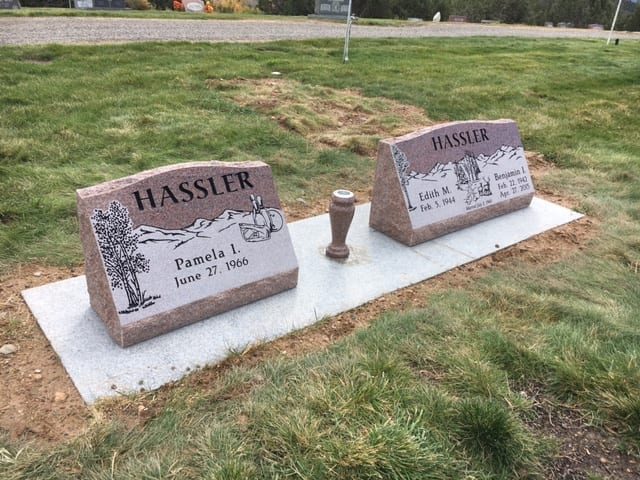 Hassler Slant Companion Memorials - Front