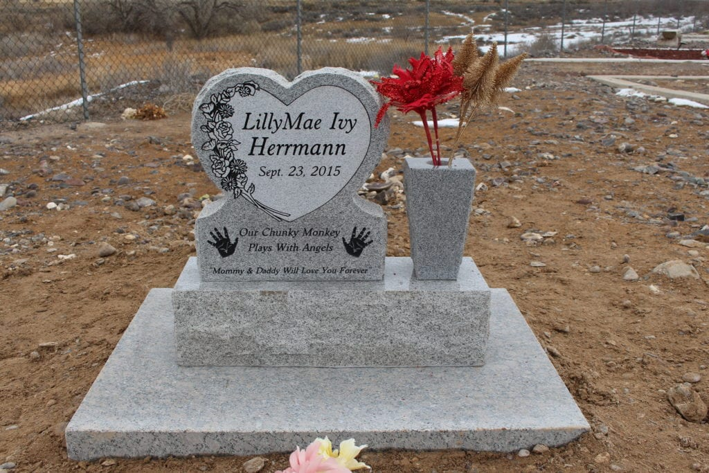 Herrmann Heart Shaped Tablet Monument