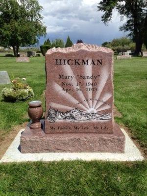 Hickman Single Person Upright Monument