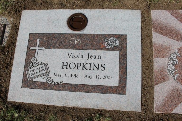 Hopkins Flat Gravestone