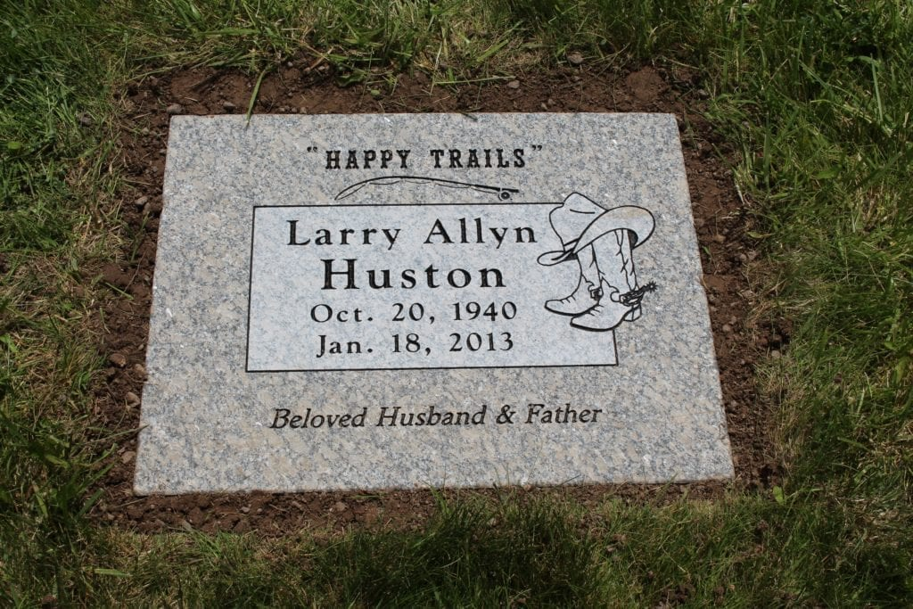 Huston Flat Gravestone