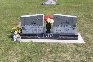 Inda Split Companion Memorial Upright