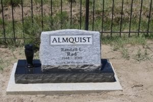Almquist Slanted Memorial For One Person