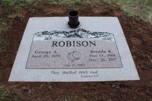 Robison Flat Gravestone