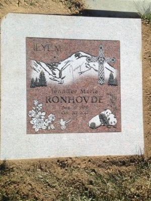 Ronhovde Flat Gravestone
