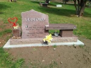 Ledford Family Bench Memorial Upright