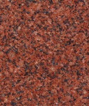 India Red Granite Color Sample - Morris Monuments