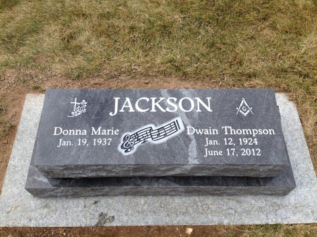 Jackson Companion Bevel Grave Marker