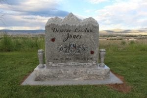 Jones Mountain Top Upright Monument