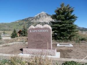 Kapushion Upright Tablet Monument