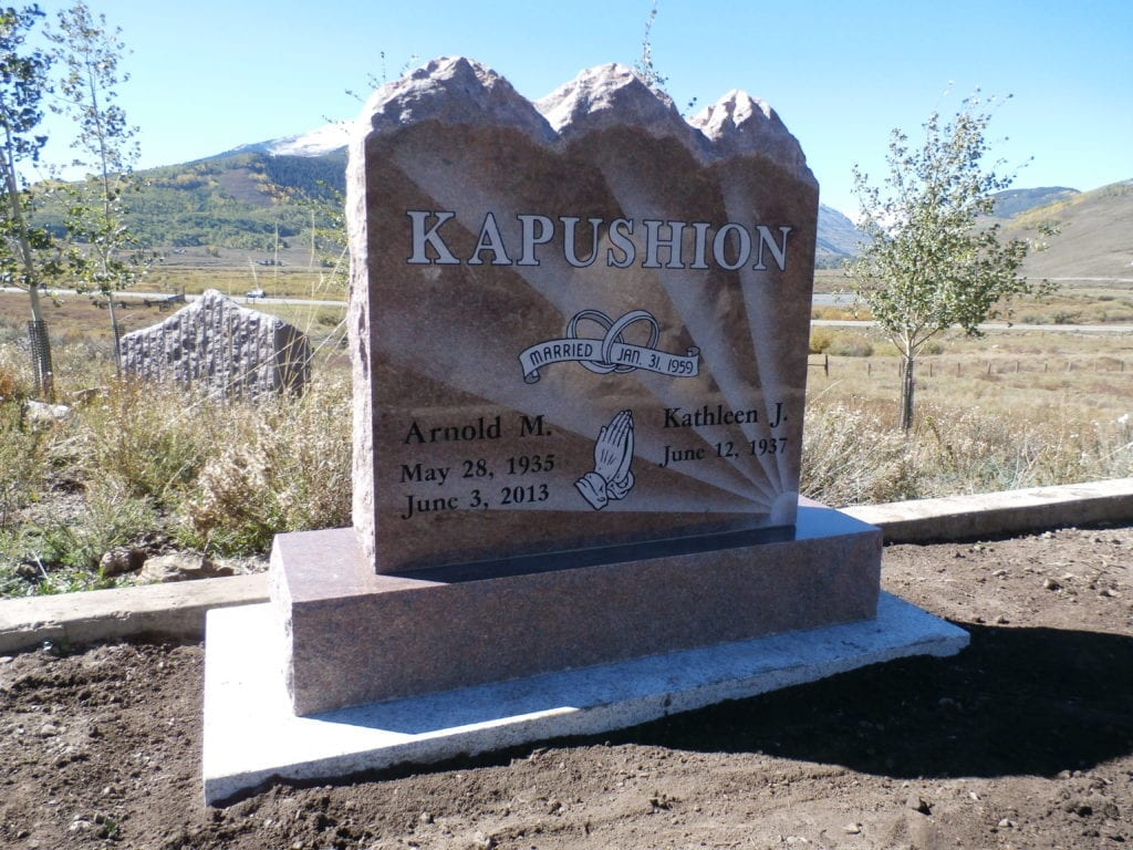 Kapushion Upright Tablet Monument
