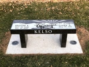 Kelso Family Bench Memorial Design
