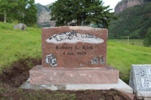 Kirk Upright Monument For One Person