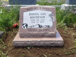 Kochevar Slanted Memorial For One Person